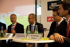 Prof. Paul Alpar, Ibrahim Evsan, Frank Geltinger und Nick Brambring (v. l.)