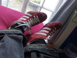 Durchnässte Schuhe nach dem London Walk