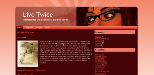 Designvorschlag für www.livetwice.de