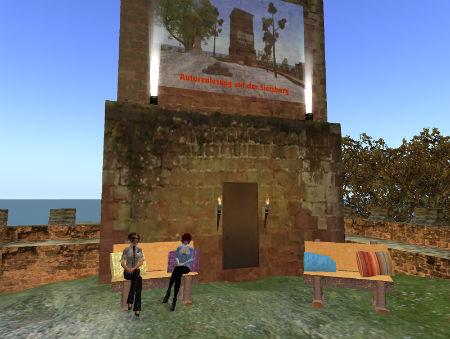 June und Yoh auf der virtuellen Siersburg