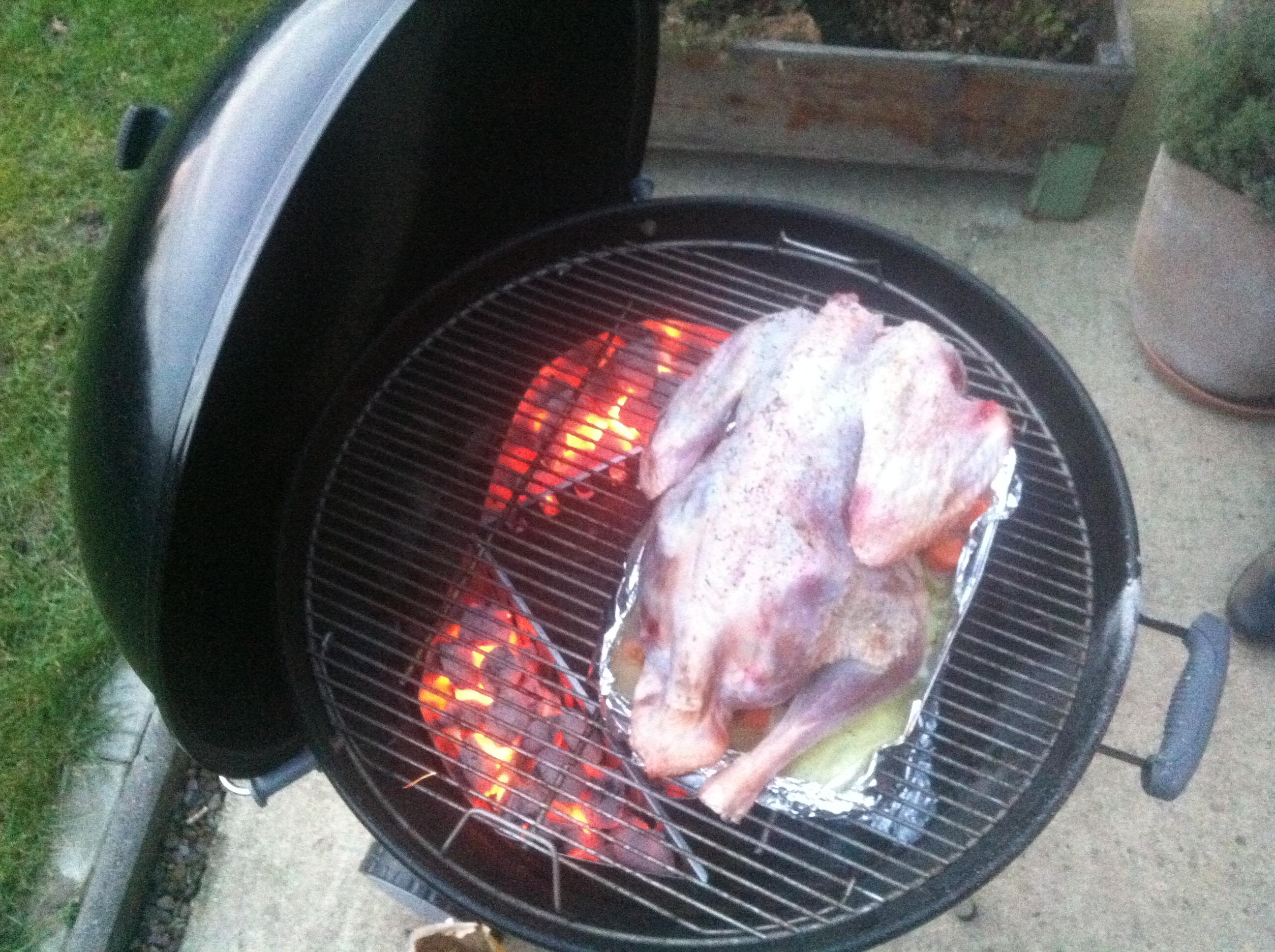 ganze pute vom grill | junebrenner's weblog